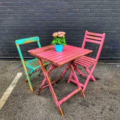 vintage chairs and table