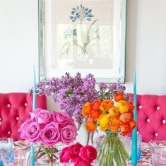 Colourful floral display
