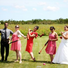 Wedding game of croquet