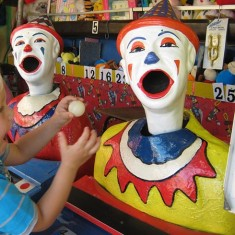 Fun fair sideshow stall clown game at private event