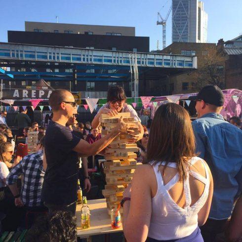 giant jenga urban food fest
