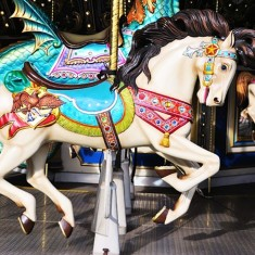 Carousel fun fair ride at event