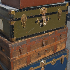 Old School Suitcases
