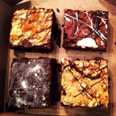 Chocolate Brownies Street Food