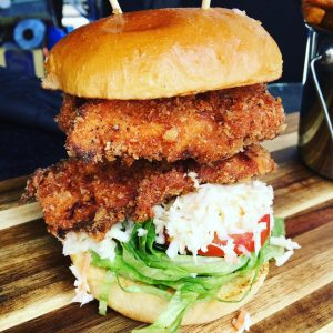 Double Fried Crispy Chicken Burger