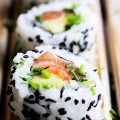 Salmon Sushi Street Food