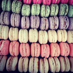 French macaroons, street food, broadskate