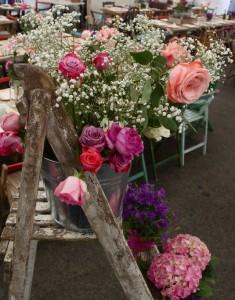 wedding flower display ladder